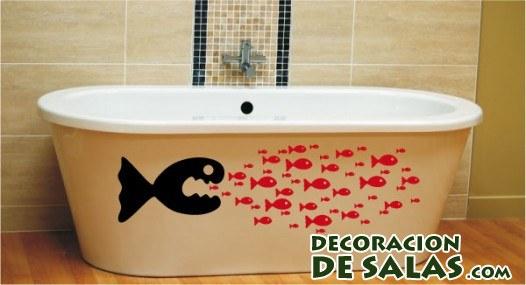 pegatinas de peces para bañeras