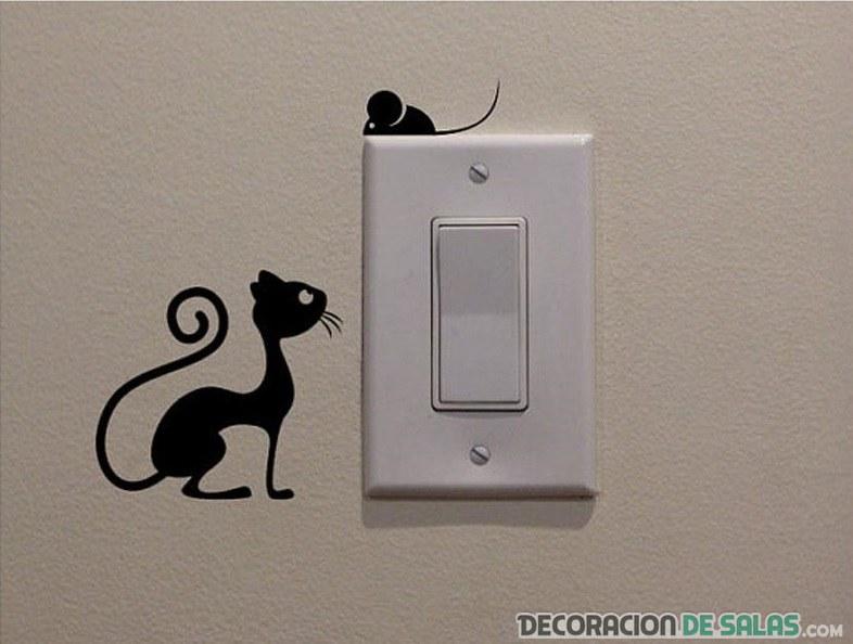 pegatinas en interruptores