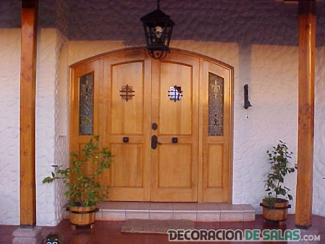 Puerta madera rustico