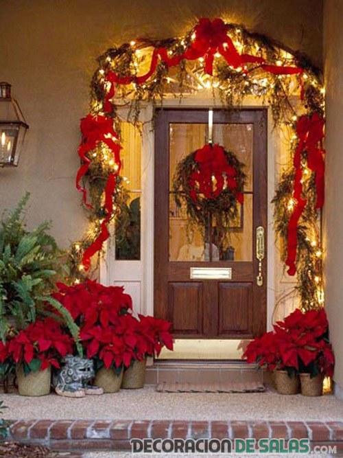 Fotos Casas Decoradas Navidad.Puertas De Casa Decoradas Para Navidad Decoracion De Salas
