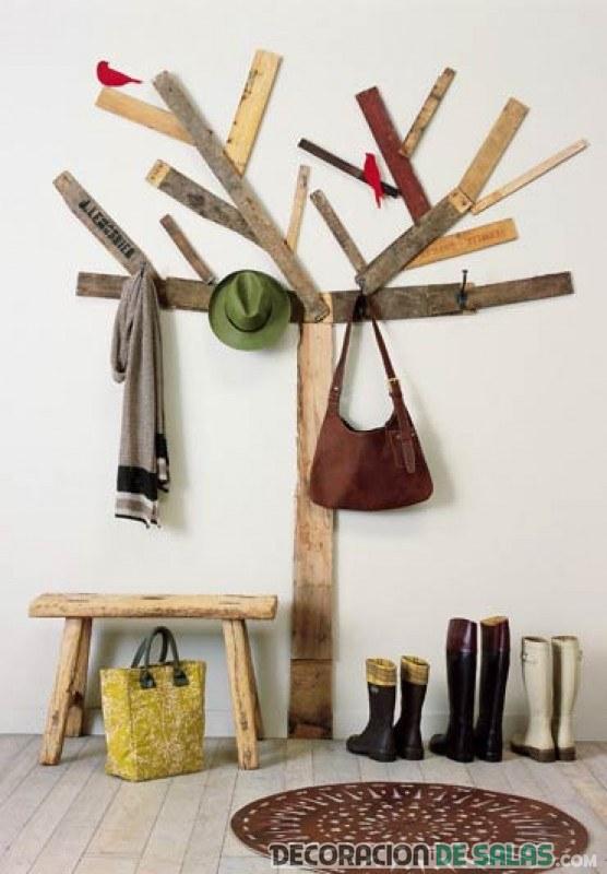 recibidor en forma de árbol