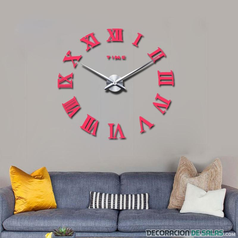 reloj gigante de pared en color