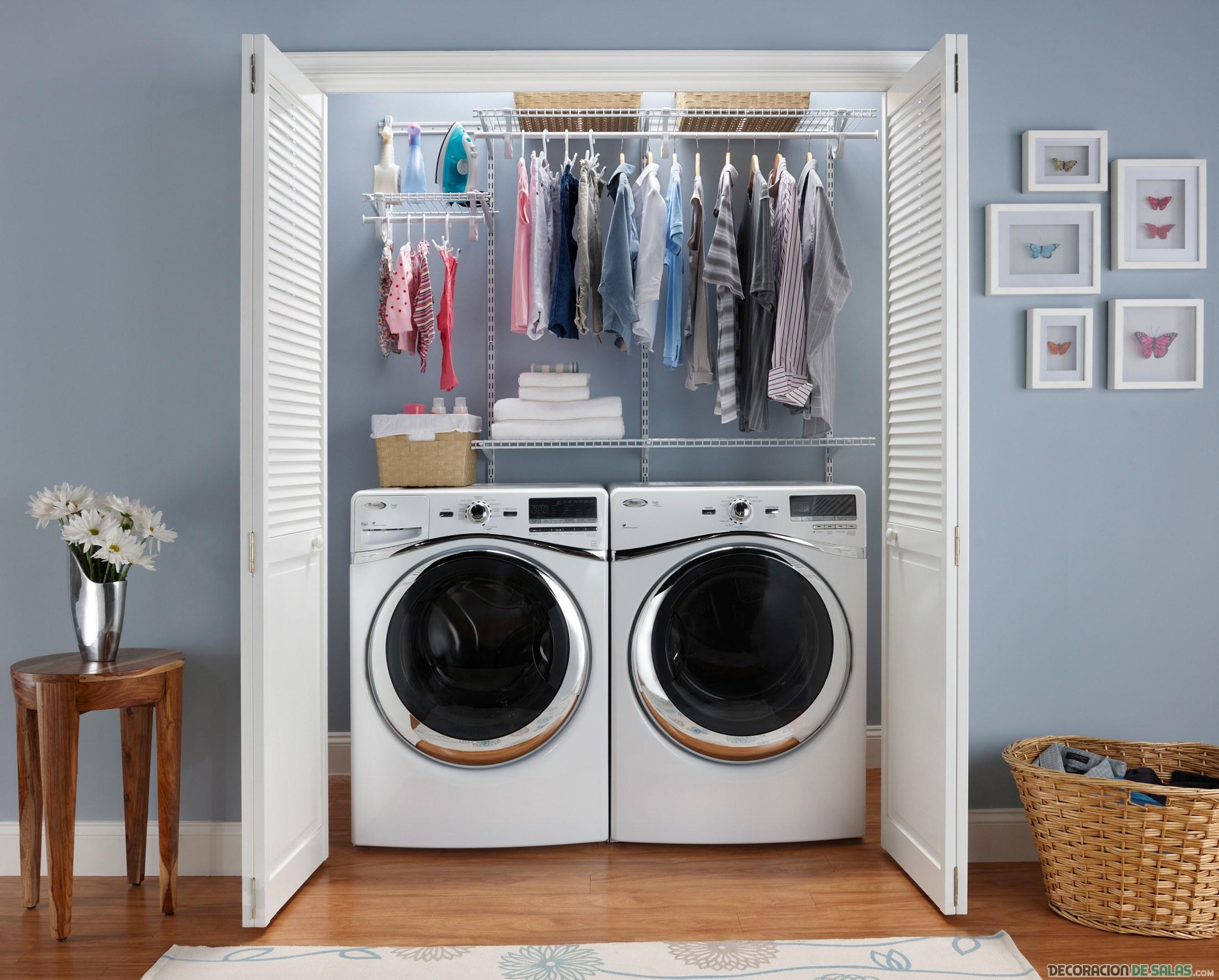 rincón de lavadora y secadora