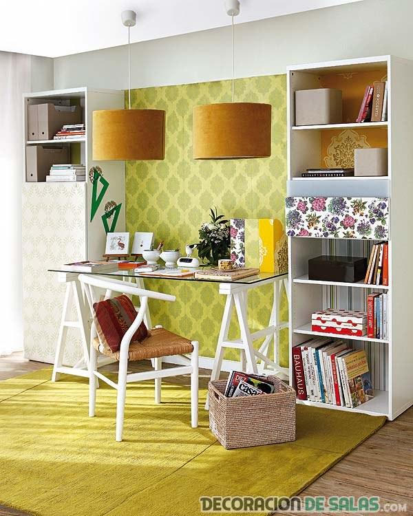 rincón escritorio decoración