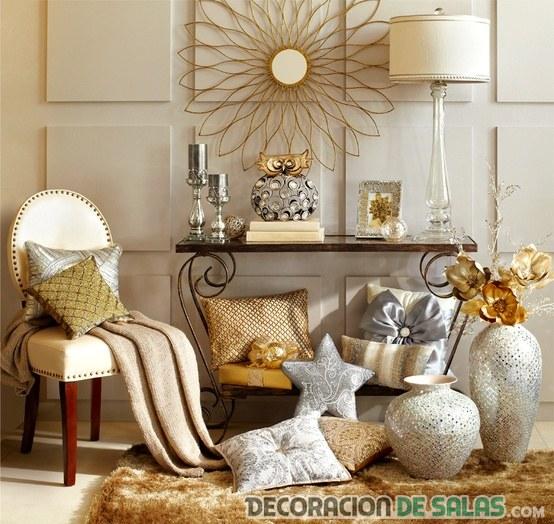 rincones decorados en color dorado