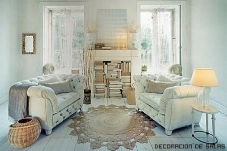 rustico y blanco