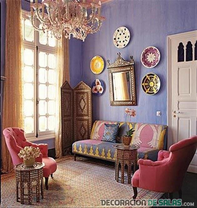 sala con estilo bohemio