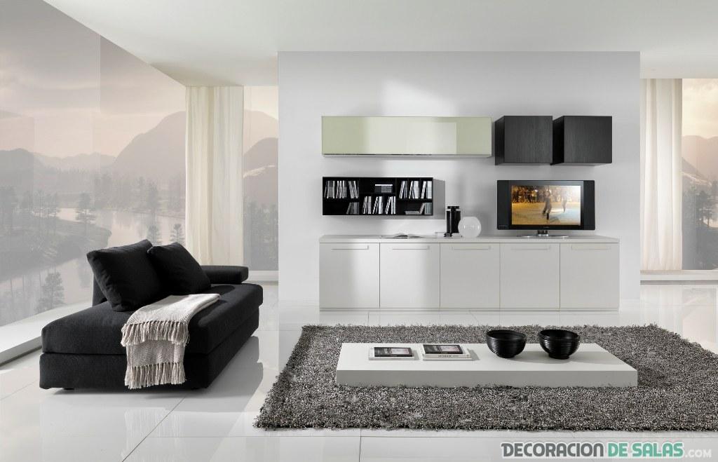 sala minimalista combinada