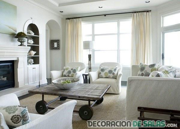 sala pequeña en color blanco