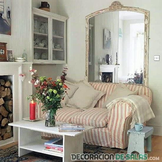 sala pequeña rústica