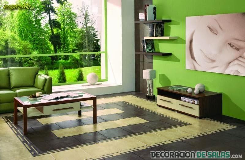 sala verde muy clara