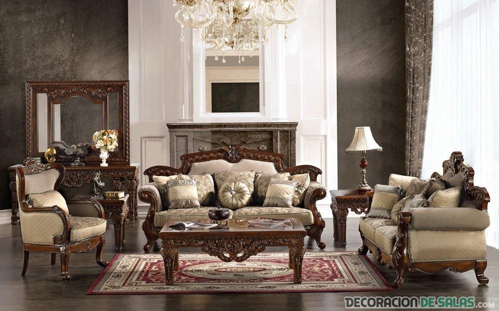 sala victoriana en marrón oscuro