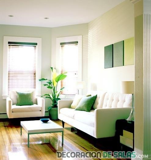 salas modernas con pinceladas de color