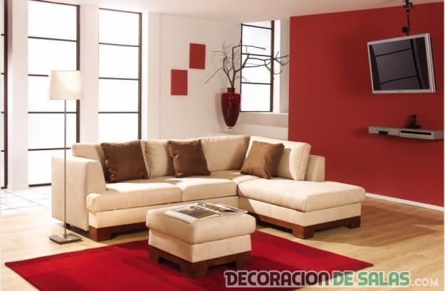 salas modernas en color rojo