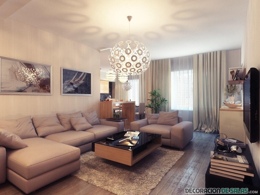 salón amplio bien iluminado