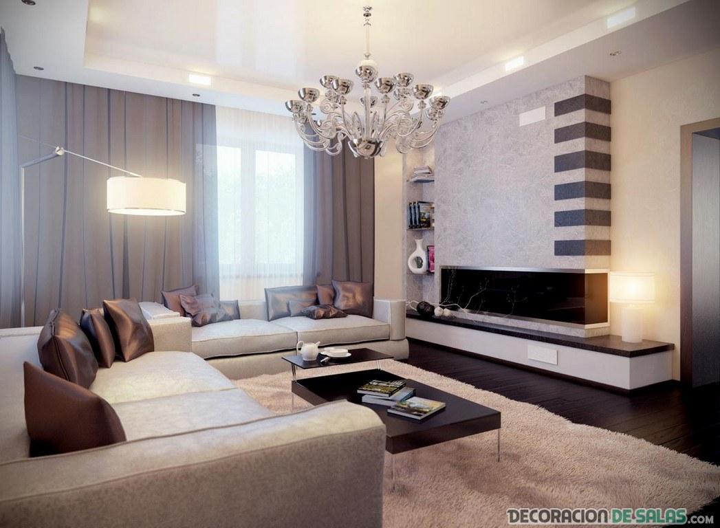 salón amplio con dos sofás
