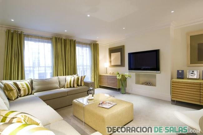 salón amplio y luminoso moderno