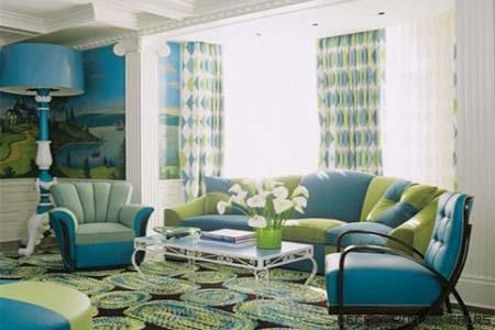 salon verde y azul