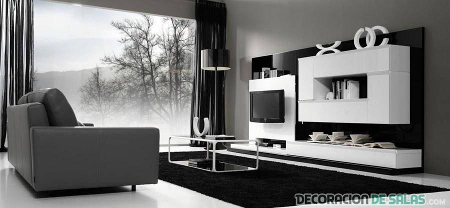 salón bicolor en blanco y negro