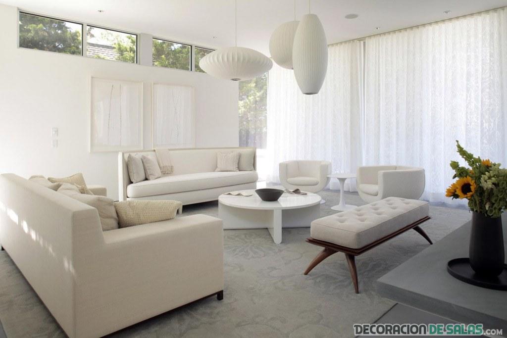 salón blanco moderno relajante