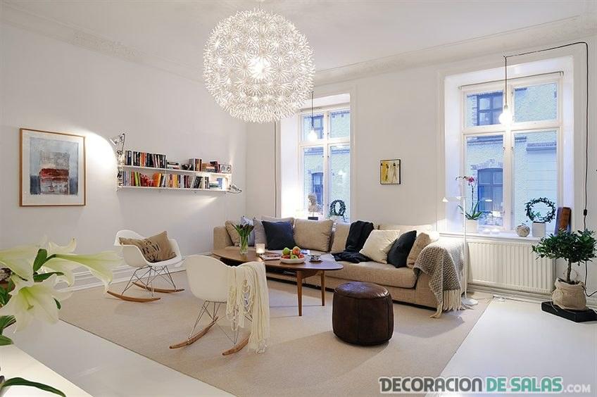 salón blanco simétrico