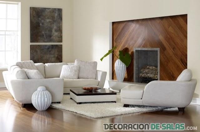 salón blanco y marrón