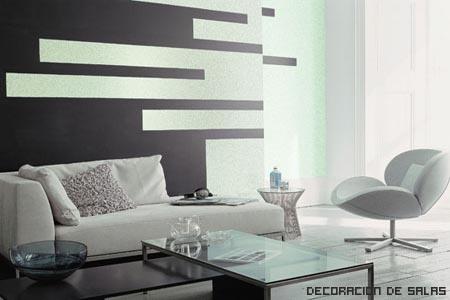 salón blanco y negro