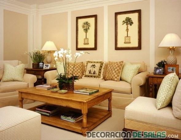 salón clásico pequeño y elegante