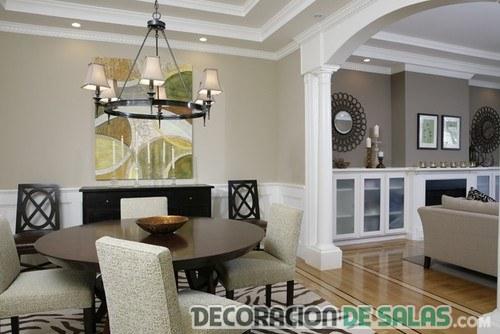 salón combinado en dos tonos marrón