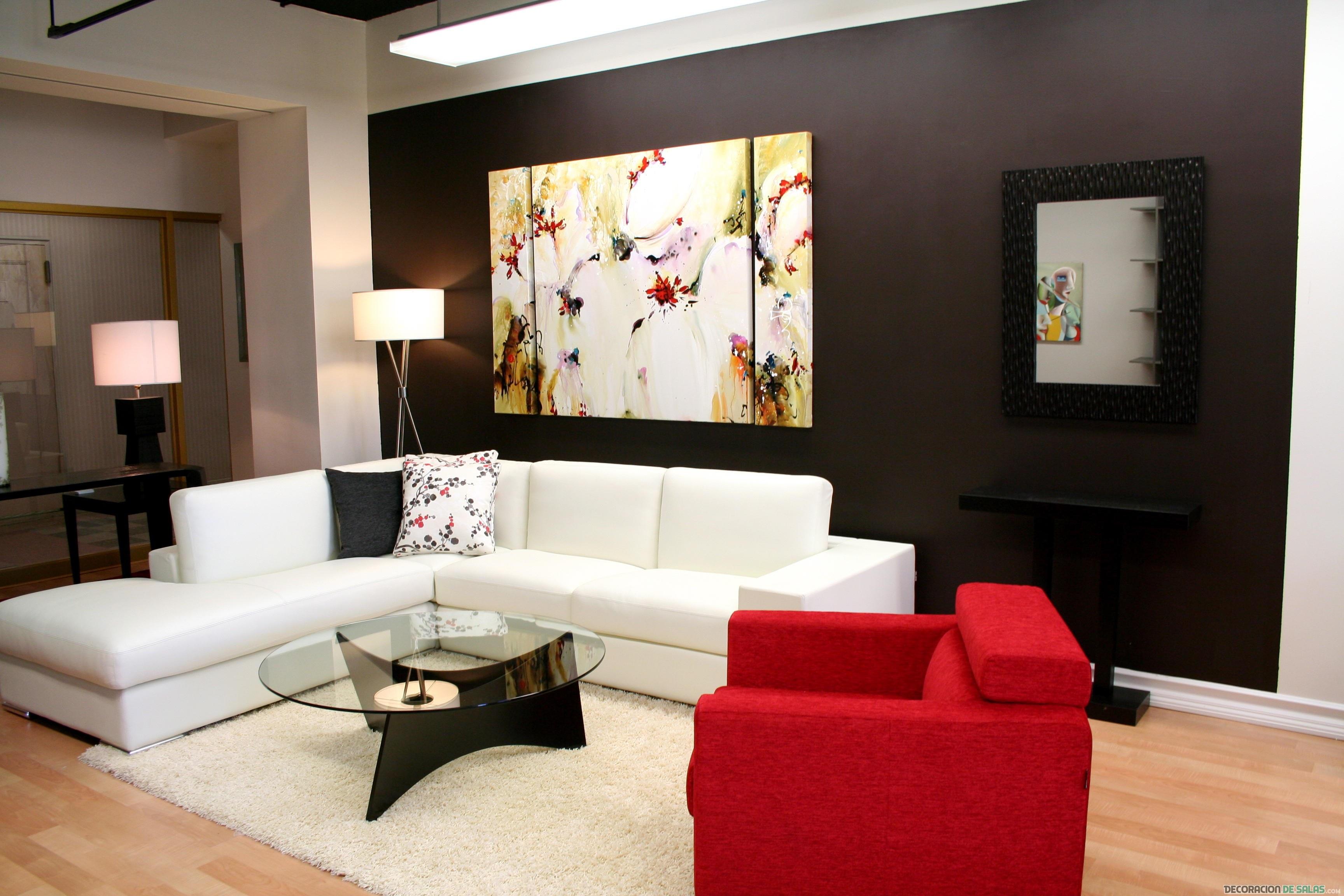 salón combinado y muy elegante