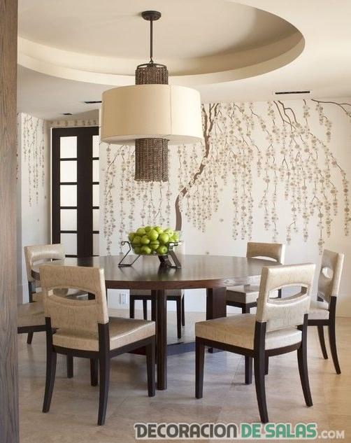 salón comedor con vinilo