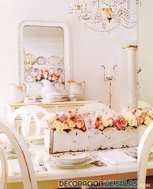 salón comedor de estilo romántico