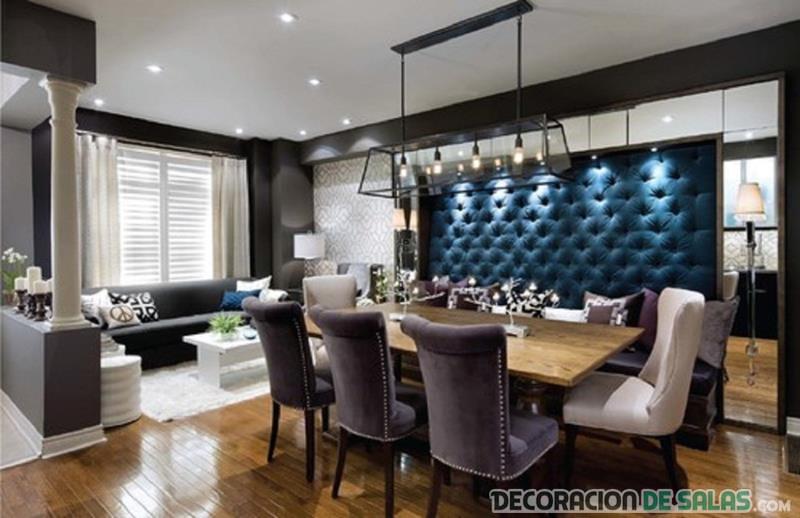 salon comedor moderno decorado