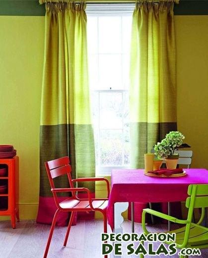 salón comedor moderno en colores