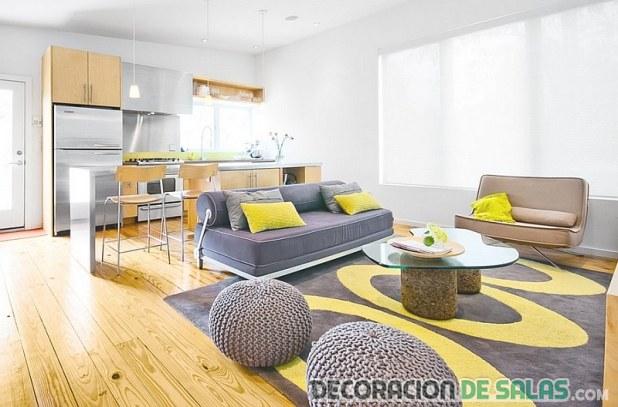 salón con alfombra original
