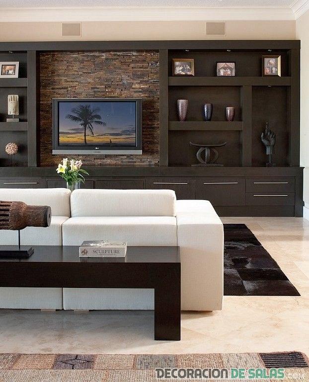 salón con estilo masculino y moderno