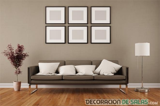 salón con paredes pintadas en marrón