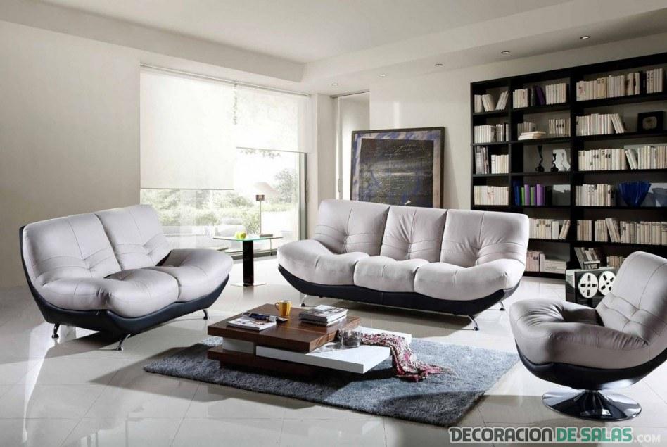 salón con sofás modernos