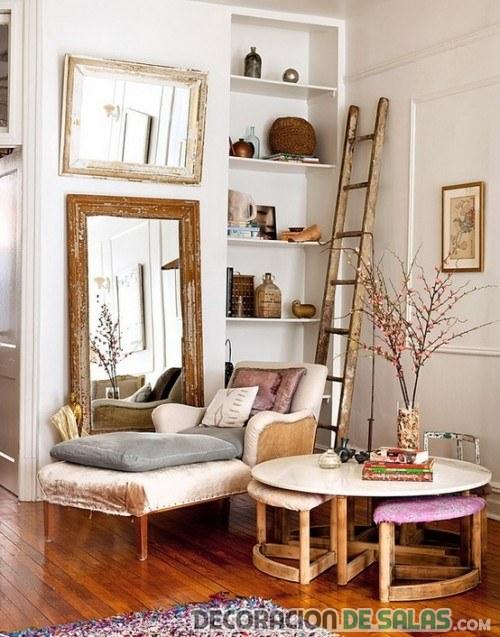 salón de estilo rústico vintage
