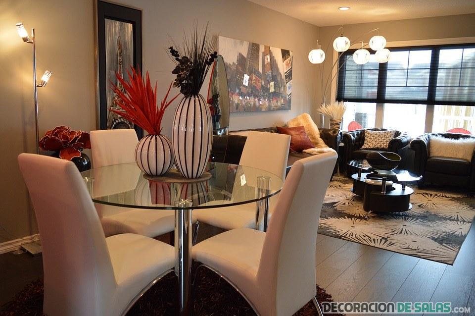 salón decoración con glamour
