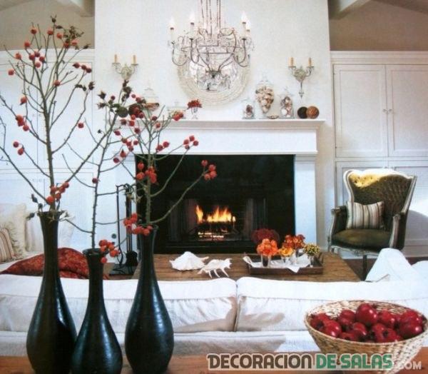 salón decorado cálido