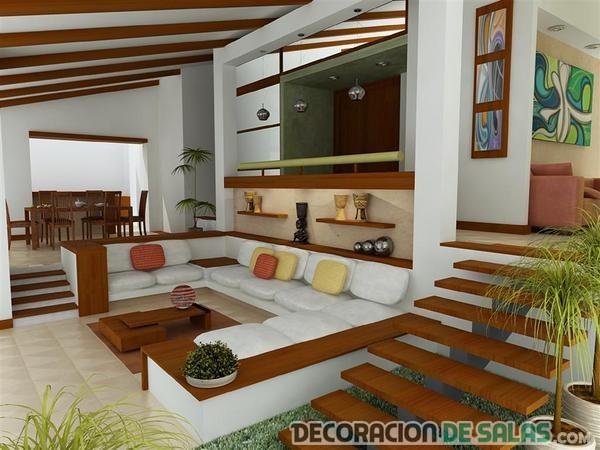 salón elegante con escaleras