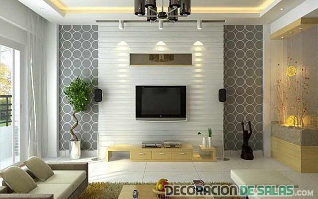 salón elegante con papel original