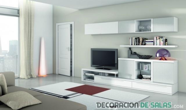 salón elegante en blanco