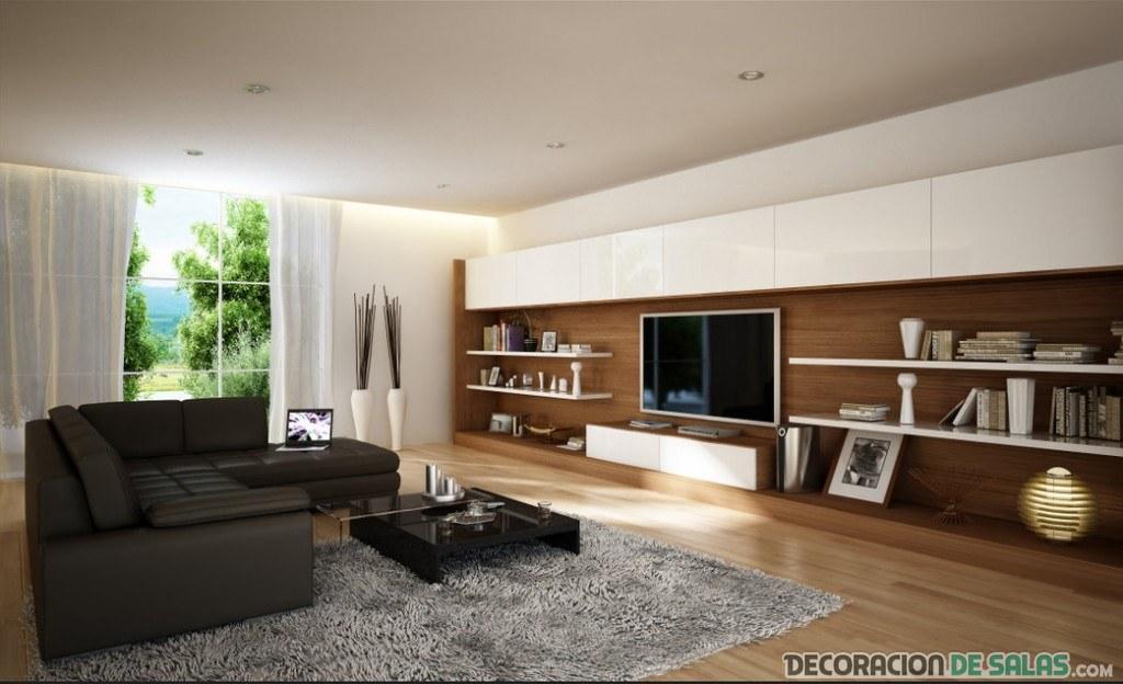 salón elegante en color marrón