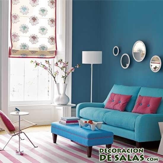 salón en azul intenso