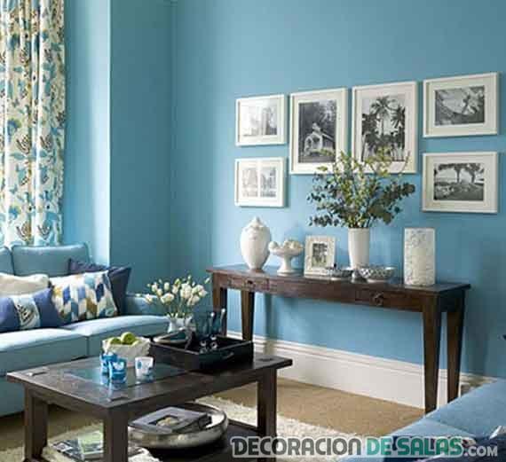salón en color azul claro