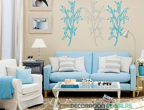 salón en color azul