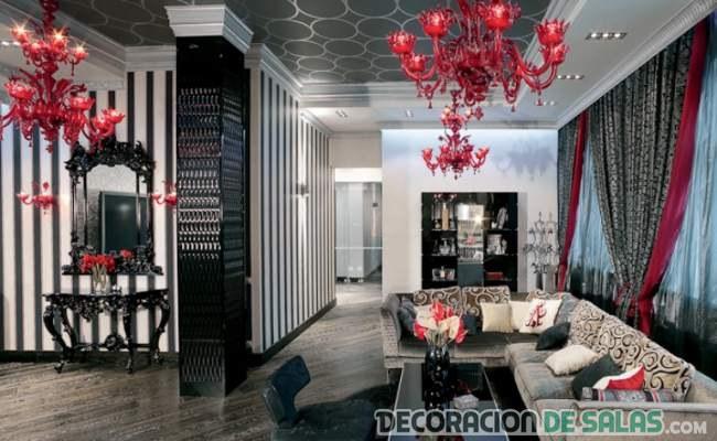 salón en color negro glam