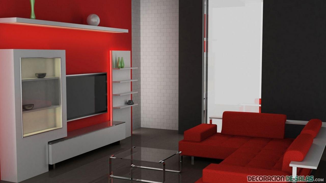 salón en color rojo emociones